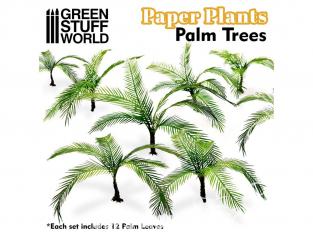 Green Stuff 508727 Plantes en Papier Palmier 1/48 - 1/35 - 1/32