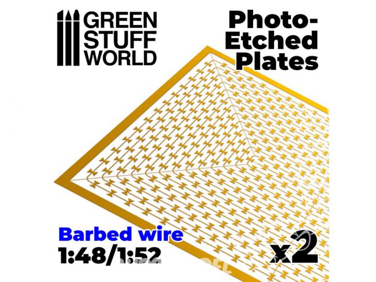 Green Stuff 506709 Plaques Photogravées Fil Barbelé