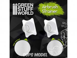 Green Stuff 509199 Filtres pour godet Aerographe x2