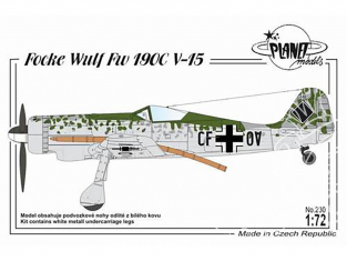 Planet Model PLT230 Focke Wulf Fw 190C V-15 full resine kit 1/72