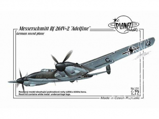 "Planet Model PLT231 Messerschmitt Bf 261V-2 ""Adolfine"" full resine kit 1/72"