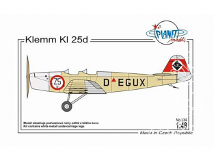 Planet Model PLT234 Klemm Kl 25d full resine kit 1/48