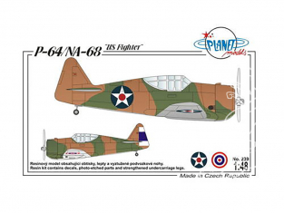 "Planet Model PLT239 P-64/ NA-68 ""US Fighter"" full resine kit 1/48"