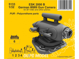 Cmk kit d'amélioration 5133 ESK 2000 B Caméra de tir allemande WWII 1/32