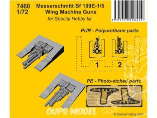 Cmk kit d'amelioration 7460 Mitrailleuses d'ailes Messerschmitt Bf 109E-1/5 Kit Special Hobby 1/72