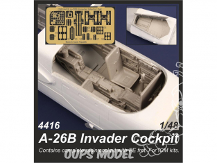 Cmk kit d'amelioration 4416 A-26B Invader Cockpit pour kit ICM 1/48