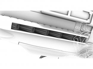 Cmk kit d'amelioration Q72390 Echappements Messerschmitt Bf 109E Kit Special Hobby 1/72
