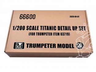 TRUMPETER photodecoupe 66600 Kit super-détaillage pour TITANIC Trumpeter 1/200