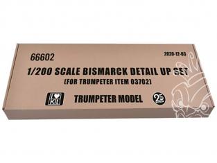 TRUMPETER photodecoupe 66602 Kit super-détaillage pour BISMARCK Trumpeter 1/200