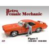 American Diorama figurine AD-38344 Retro femme Mécano I 1/24