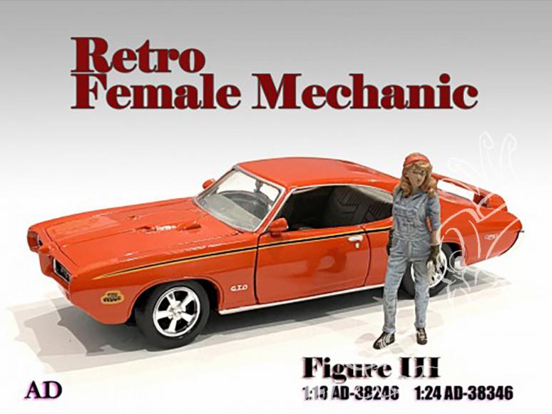 American Diorama figurine AD-38346 Retro femme Mécano III 1/24