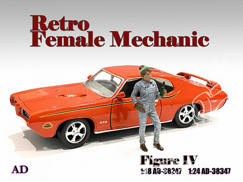 American Diorama figurine AD-38347 Retro femme Mécano IV 1/24