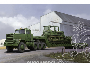 TRUMPETER maquette militaire 01078 Semi-remorque M870A1 de remorquage avec tracteur M920 1/35