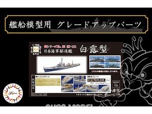 Fujimi kit d'amélioration bateau 433134 IJN Classe Shiratsuyu 1/700
