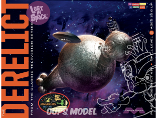 Moebius maquette serie télé 965 The Derelict Lost in Space 1/350
