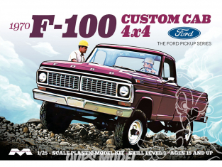 Moebius maquette voiture 1230 Ford F-100 4x4 Custom Cab 1970 Pick Up 1/25