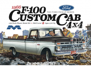 Moebius maquette voiture 1236 Ford F-100 4x4 Custom Cab 1966 Pick Up 1/25