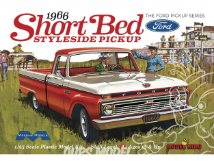 Moebius maquette voiture 1233 Ford F-Series Short Bed Styleside 1966 Pick Up 1/25