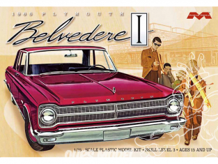 Moebius maquette voiture 1218 Plymouth Belvedere I 1965 1/25