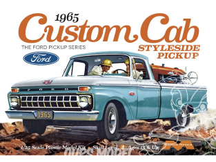 Moebius maquette voiture 1234 Ford F-Series Custom Cab Styleside 1966 Pick Up 1/25