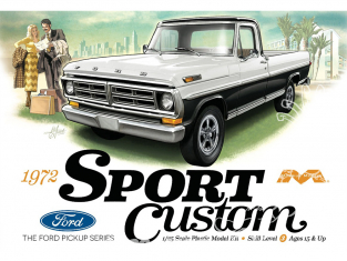 Moebius maquette voiture 1220 Ford F-Series Sport Custom 1972 Pick Up 1/25