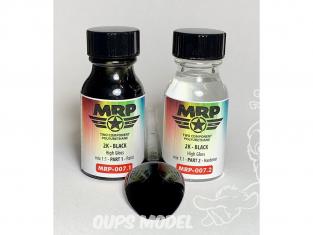 MRP peintures 007 Noir 2K SUPER CLEAR 2 x 15ml