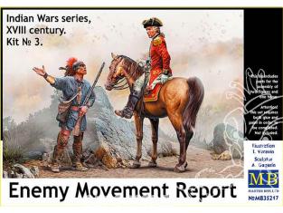 Master Box maquette figurines 35217 Rapport de mouvement ennemi Série Guerres indiennes XVIIIe siècle. Kit n° 3 1/35