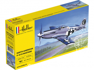 Heller maquette avion 80268 P-51 Mustang 1/72