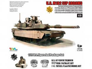 T-Model TK-7310I maquette militaire M1A2 SEP Abrams avec Tusk et M151 CrowsII inclus accessoires 1/72