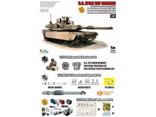 T-Model TK-7310G maquette militaire M1A2 SEP Abrams avec Tusk et M151 CrowsII inclus tous accessoires 1/72