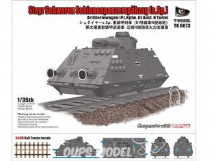 T-Model TK6073 Steyr Shweren Schienenpanzerspahzug (s.Sp) 1/72
