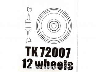 T-Model TK72007 12 roues alu pour wagon allemand 80T 1/72
