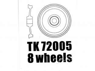 T-Model TK72005 8 roues alu pour wagon allemand 50T 1/72