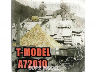 T-Model A72010 Abri zeltbahn m1931et housse de bouche de canon de la seconde guerre mondiale 1/72