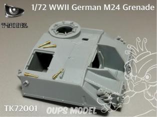 T-Model TK72001 Grenades Allemandes modèle 24 de la seconde guerre mondiale 1/72