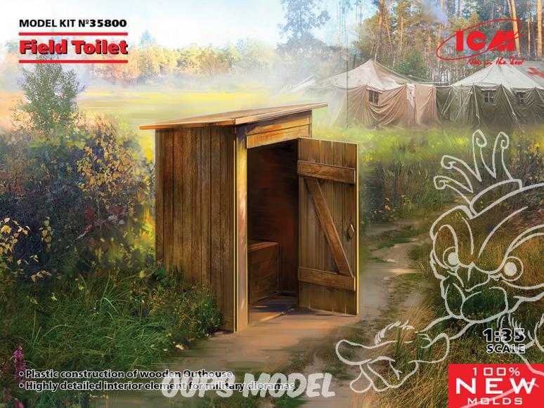 Icm maquette armement 35800 Toilette de campagne 1/35