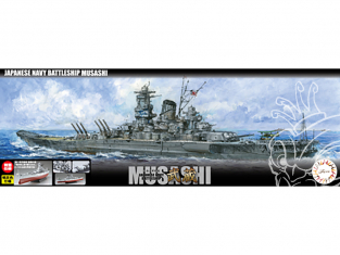Fujimi maquette bateau 460628 Musashi Navire de la Marine Japonaise 1/700