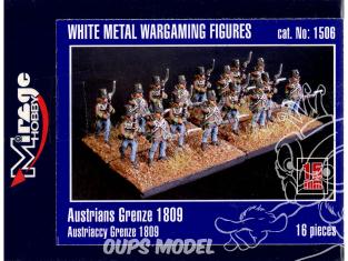 Mirage maquette FIGURINES 1506 Austrian Grenze 1809 15mm