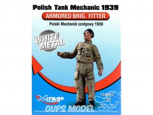 Mirage maquette militaire 135003 Mecanicien de char Polonais 1939 1/35