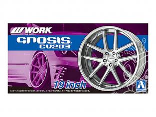 "Aoshima maquette voiture 61169 Jantes Work Gnosis CV203 19"" et pneus 1/24"