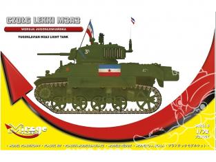 Mirage maquette militaire 720001 Char léger M3A3 [version yougoslave] Édition limitée 1/72