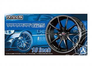 "Aoshima maquette voiture 61183 Jantes Rays Volk Racing G25 18"" et pneus 1/24"