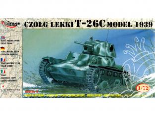 Mirage maquette militaire 72612 Lekki T-26C modele 1939 1/72