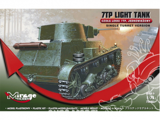 Mirage maquette militaire 726001 7TP Light Tank tourelle simple 1/72