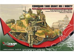 Mirage maquette militaire 728005 M3 GRANT Mk.I char de commandement Monty 1/72