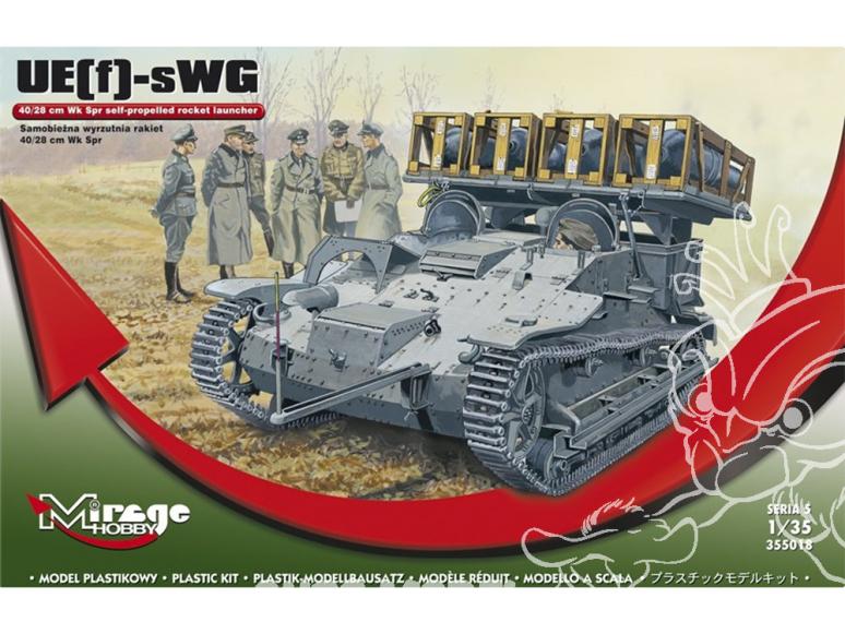 Mirage maquette militaire 355018 Lanceur automoteur UE-SWG 40/28 cm Wk Spr 1/35