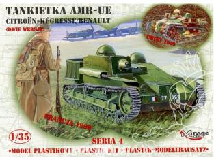 Mirage maquette militaire 35306 Tankette AMR-UE CITROEN-KEGRESSE / RENAULT 1/35