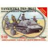 Mirage maquette militaire 35515 Tankette TKS-MG15 avec chariot de transport 1/35