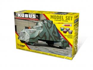 Mirage maquette militaire 835091 MODEL SET Voiture blindée KUBUŚ Soulèvement de Varsovie Août 1944 1/35