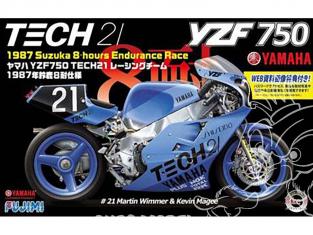 Fujimi maquette moto 141329 Yamaha YZF 750 Tech 21 1987 8h Suzuka 1/12
